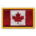 Small Canadian flag patch