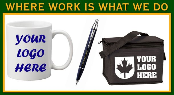 Where Work Is What We Do | Cup, pen and lunch bag