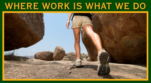 Where Work Is What We Do | Woman hiking