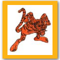 Cartoon tiger patch